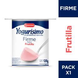 Yogur Entero Firme Frutilla Yogurisimo x 120 g.