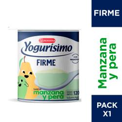 Yogur Entero Firme Manzana y Pera Yogurisimo x 120 g.