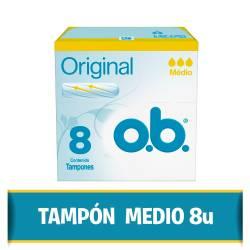 Tampones Medio OB x 8 un.