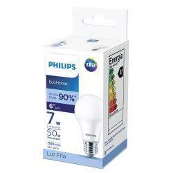 Lámpara Led 7W Luz Fría E27 Ecohome Philips x 1 un.