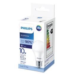Lámpara Led 10W Luz Fría E27 Ecohome Philips x 1 un.