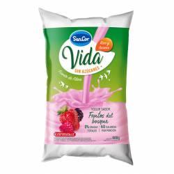 Yogur Descremado Bebible Frutos del Bosque en Sachet Sancor Vida x 900 g.