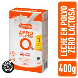 Leche en Polvo Zero Lactosa Fortificada La Serenísima x 400 g.