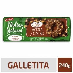 Galletitas Avena y Cacao Okebon x 240 g.
