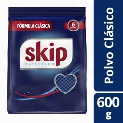 Jabón Polvo Baja Espuma Skip Fórmula Clásica x 600 g.