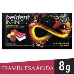 Chicles Beldent Dúo Frambuesa Lima x 8 g.