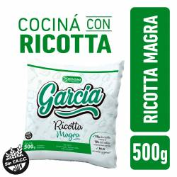 Ricotta Magra en Sachet García x 500 g.