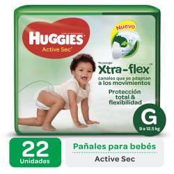 Pañal Huggies G Active Sec Mega x 22 un.