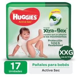 Pañal Huggies XXG Active Sec Mega x 17 un.