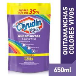 Quitamanchas Líquido Ayudín Ropa Color Doy Pack x 650 cc.