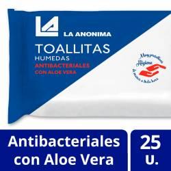 Toallitas Húmedas Antibacteriales La Anónima x 25 un.