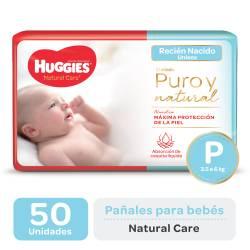 Pañal Huggies P Natural Care Mega x 50 un.