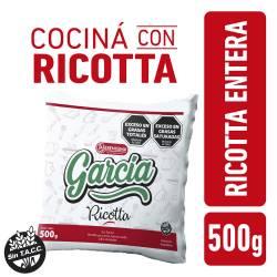 Ricotta Entera Baja en Sodio en Sachet García x 500 g.