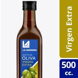 Aceite de Oliva Extra Virgen Vidrio La Anónima x 500 cc.