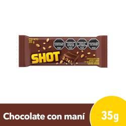Chocolate con Leche y Maní Shot x 35 g.