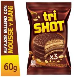 Alfajor Chocolate Triple Shot x 60 g.