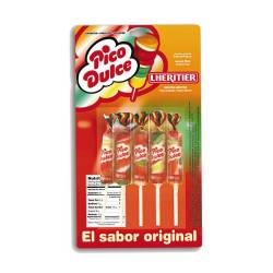 Chupetines Frutales Pico Dulce Blíster x 5 un.