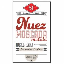 Nuez Moscada 51 Molida x 25 g.