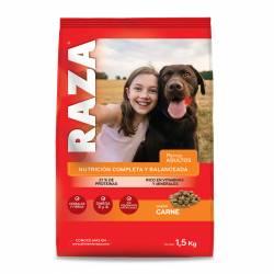 Alimento para Perros Carne Raza x 1,5 kg.