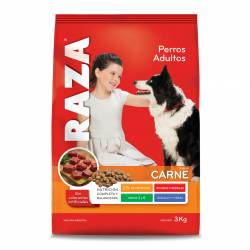 Alimento para Perros Carne Raza x 3 kg.