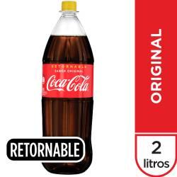 Gaseosa Cola Coca-Cola Pet Retornable x 2 lt.
