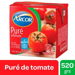 Puré de Tomates Arcor Brick x 520 g.