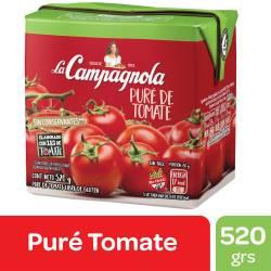 Puré de Tomates La Campagnola Brick x 520 g.