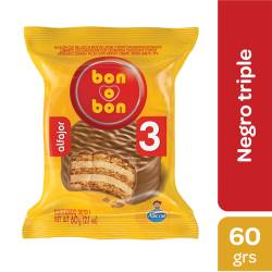 Alfajor Chocolate Triple Bon o Bon x 60 g.