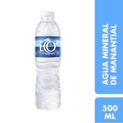 Agua Mineral sin gas Eco de los Andes x 500 cc.