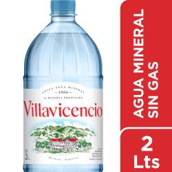 Agua Mineral sin gas Villavicencio x 2 lt.