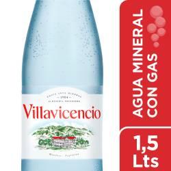 Agua Mineral con gas Villavicencio x 1,5 lt.