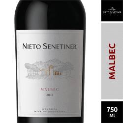 Vino Tinto Nieto Senetiner Malbec x 750 cc.
