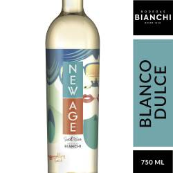Vino Blanco New Age Dulce Natural Gasificado x 750 cc.