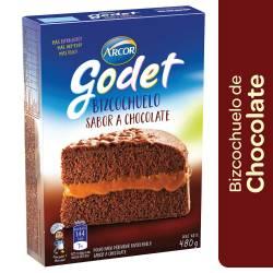 Polvo para preparar Bizcochuelo Godet Chocolate x 480 g.