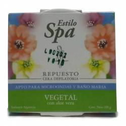 Cera Depilatoria Vegetal Estilo Spa Repuesto x 200 g.