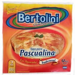 Tapas para Pascualina x 2 un. Bertolini x 400 g.