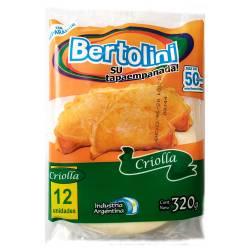 Tapas Criollas para Empanadas Bertolini x 12 un. 320 g.
