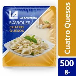 Ravioles 4 Quesos en Blíster La Anónima x 500 g.