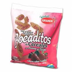 Cereal de Avena Relleno Granix Frutilla Bolsa x 180 g.