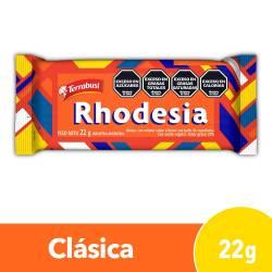 Oblea Rellena Bañada con Chocolate Rhodesia Sabor Limón x 22 g.