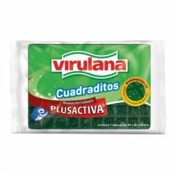 Fibra Esponja Cuadraditos Virulana x 1 un.