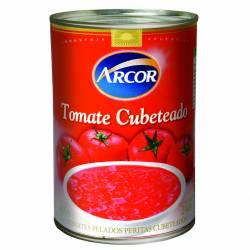Tomate Pelado Cubeteado Arcor x 400 g.
