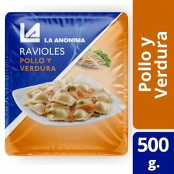 Ravioles de Pollo y Verduras en Blíster La Anónima x 500 g.