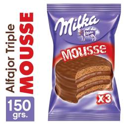 Alfajor Chocolate Mousse Milka Triple x 55 g.