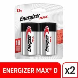 Pila Alcalina D Max Energizer x 2 un.