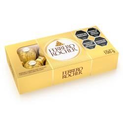 Bombones de Chocolate y Avellanas Ferrero Rocher x 100 g.