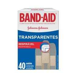 Apósitos transparentes Band-Aid x 40 un.