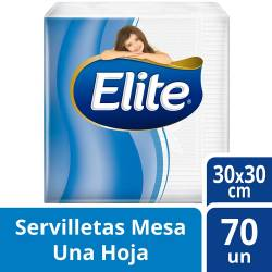 Servilletas Papel Elite 30x30cm x 70 un.