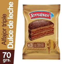 Alfajor Chocolate Triple Terrabusi x 70 g.