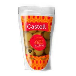 Aceitunas Verdes Rellenas con Morrón Doy Pack Castell x 180 g.